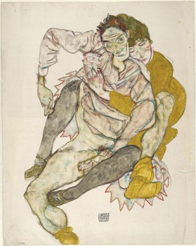 Schiele: Pareja sentada (1915)