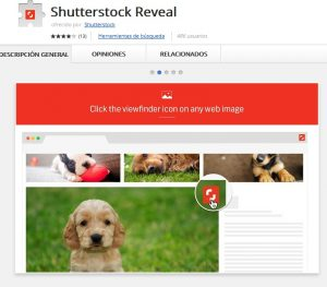 shutterstock reveal chrome