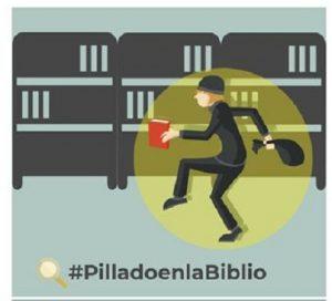 Imagen #PilladoenlaBiblio