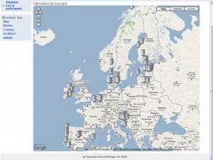 mapa bibliotecas bellas